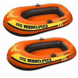 Intex Explorer Pro 2 Person Youth PVC Boat Raft for Fishing