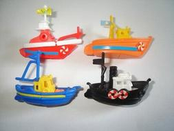 FISHING BOATS 1995 MODEL SHIPS SET - KINDER SURPRISE PLASTIC
