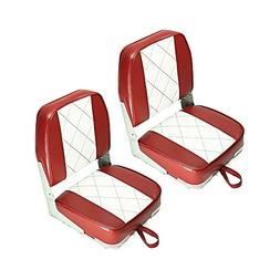 Fishing/Hunting Low Back Fold-Down Boat Seat,2Packs Color Ca