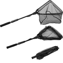 PLUSINNO Fishing Net Fish Landing Net, Foldable Collapsible