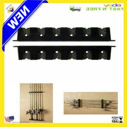 Fishing Rod Rack Holder Wall Mount For Storage Pole Stand Bo