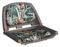 Wise Folding Boat Seat with Plastic Frame and Cushion Pads