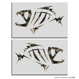 G Loomis Skeleton Fish Boat Decal Set 5 Colors to Choose Fro