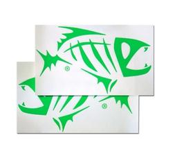 "G Loomis Skeleton Fish Boat Decal Set White 16"" x 9"""