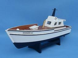 """GILLIGAN'S ISLAND SS MINNOW 14"""" Handcrafted Wooden Model Fis"""