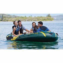 Intex Inflatable Blow Up Seahawk 4 - 4-Person Fishing Rowing