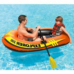 Inflatable Boat Fishing Intex Kids 2 Person Raft Set Small R