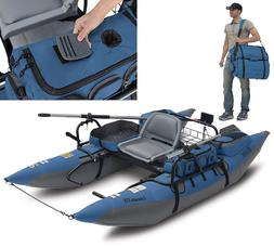 Inflatable Pontoon Boat Fishing One-man XT Swivel Seat Trans