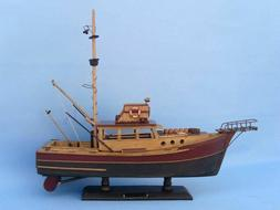 "Jaws - Orca 20"" - Famous Ship From The Movies - Wood Model B"
