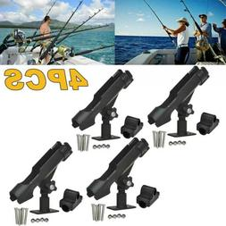 For Kayak Boat Fishing Pole Rod Holder Tackle Kit 4PC Adjust