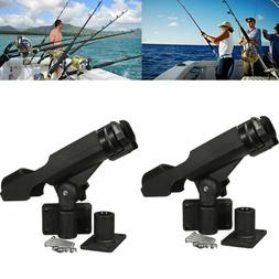 For Kayak Boat Fishing Pole Rod Holder Tackle Kit 2PC Adjust