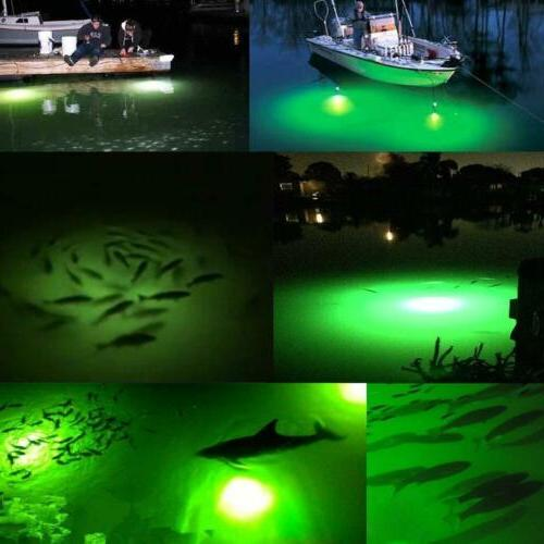 12V Green Underwater Submersible Night Light Boat Crappie
