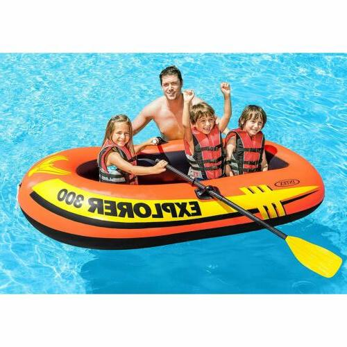 3-Person Inflatable Boat High Output 83 x