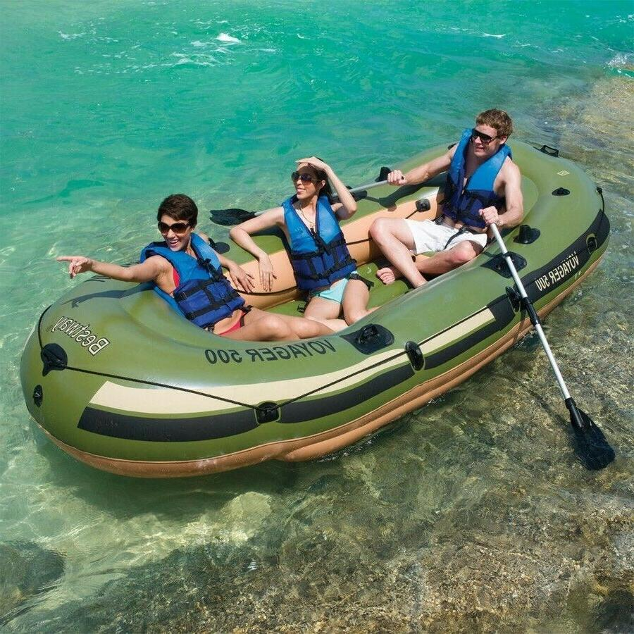 3 person inflatable pontoon boat dinghy fishing