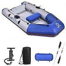 8'  INFLATABLE BOAT FISHING RAFT WITH TRANSOM   INCLUDES OAR