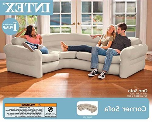 "Intex Corner Sofa, 101"" X 80"" 30"""