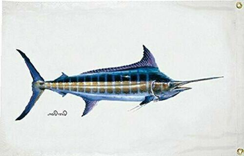 carey chen blue marlin 1922 flag 36x60