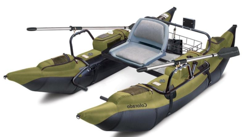colorado inflatable fishing pontoon boat with motor