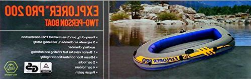 Intex Explorer Two Person Boat Raft with Technology