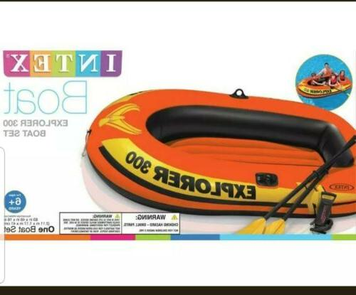explorer 300 compact inflatable fishing raft boat