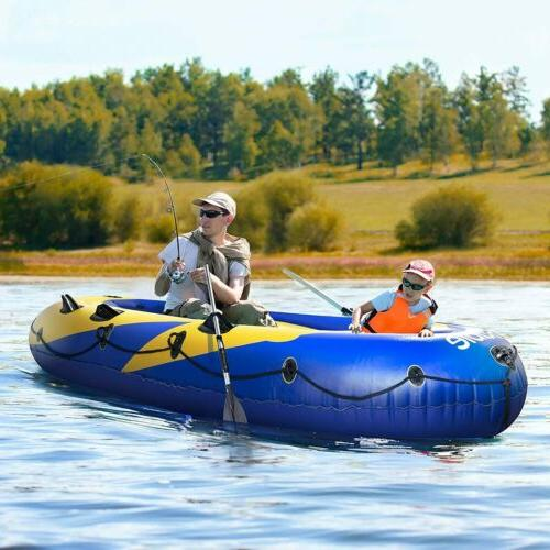 Intex Mariner 4-Person Inflatable River Lake Dinghy Boat wit