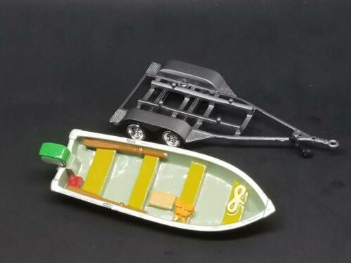 Fishing Boat W/Trailer Scale Collectible Model #P