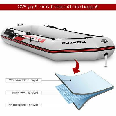 3-4 Persons Inflatable Fishing Boat Oars Air Pump