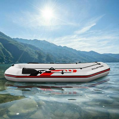 3-4 Persons Inflatable Boat Aluminum Air Pump Water Sports