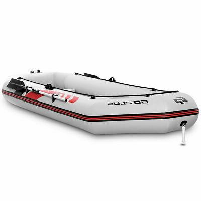 3-4 Persons Inflatable Fishing Boat Aluminum Oars and Air Pu