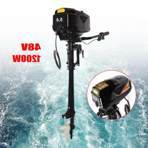 5.0HP 48V Electric Outboard Fishing Boat Engine 1200W Crafts