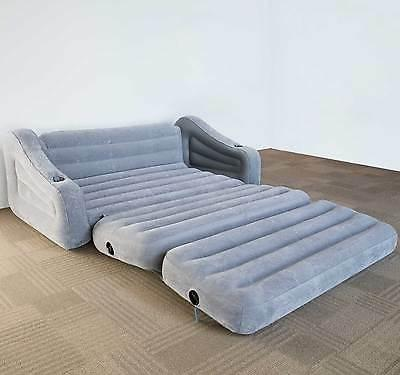 Intex In 1 Out Sofa Couch Mattress Gray