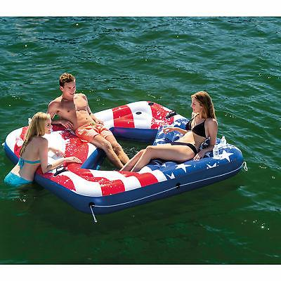 Intex Inflatable American Flag Party Island