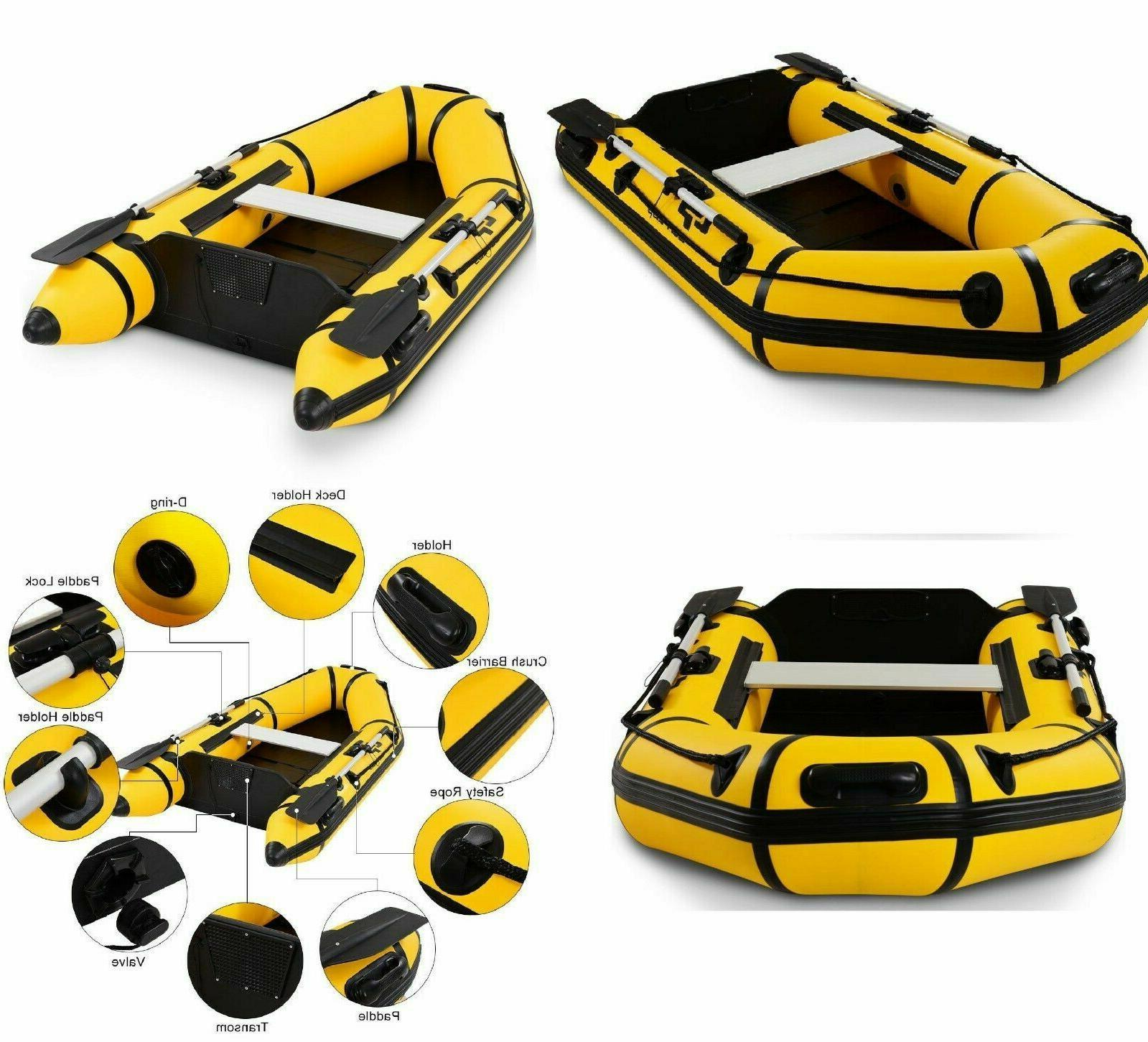 Inflatable 2 Person Rowing Tender Rafting Dinghy Boat Pump