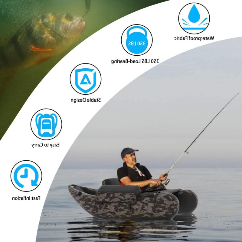 Inflatable Fishing with PUMP Blow Up With Portable Camouflage