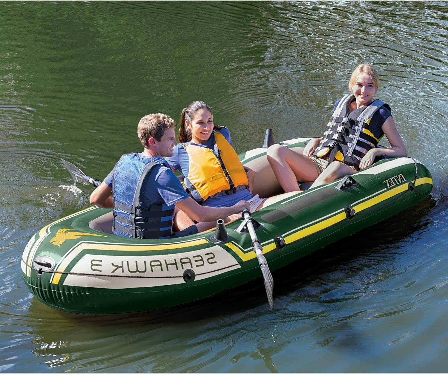 Inflatable Fishing Camping Family with Oars