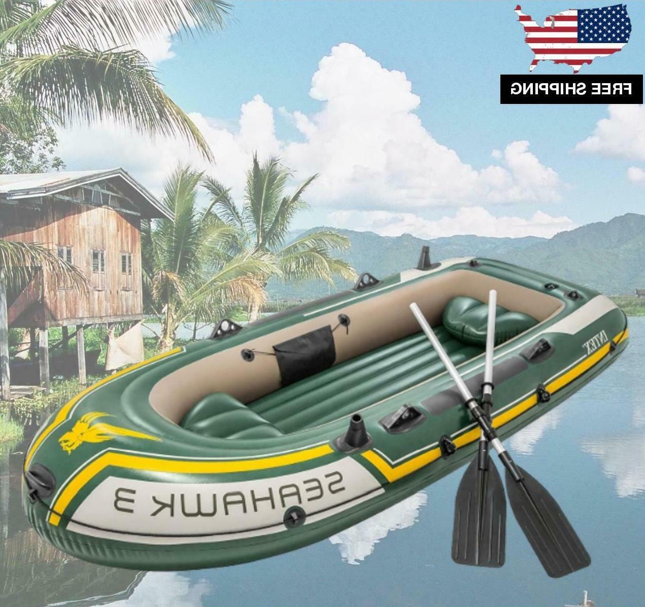 inflatable fishing camping rafting family boat