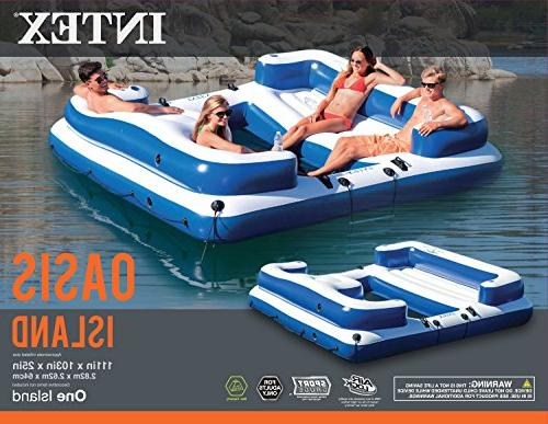 Intex Inflatable Oasis Island Lounge Blue and