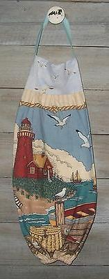 Lighthouse Pier Boats Seagulls Fishing Plastic Grocery Bag R
