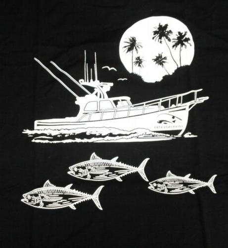 mens sz l graphic t shirt fishing