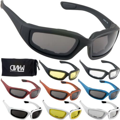 motorcycle riding glasses and water sports fishing