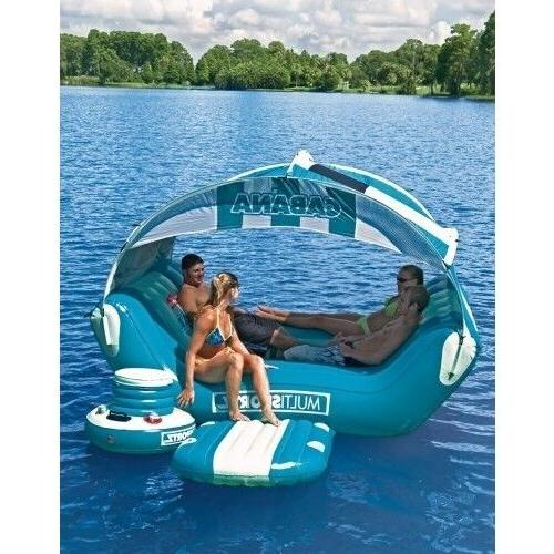 Pool Adults Kids Tube Floating Caribbean Lounger Canopy