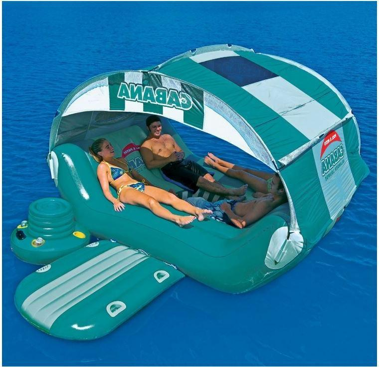 Kids Tube Floating Island Caribbean Lounger Canopy