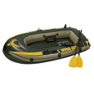 Inflatable Boat with French Oars High Output Pump