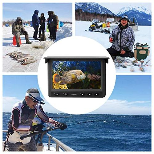 Underwater Camera, Portable HD 1000 Infrared LED Waterproof 4.3 Inch LCD Monitor for Sea Boat