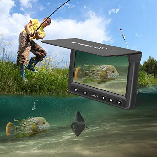 Underwater Fishing MOOCOR Portable Camera HD LED Camera with 4.3 LCD Monitor for Ice Lake Boat Kayak