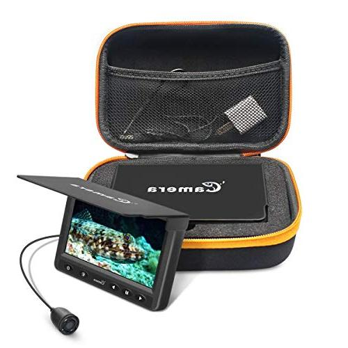 Underwater Fishing Camera, MOOCOR Portable Fish Finder HD LED 4.3 for Ice Boat