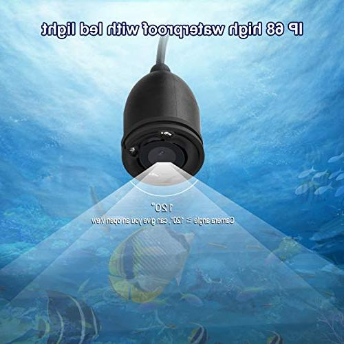 Underwater Fishing Camera, MOOCOR Portable HD 1000 Infrared LED 4.3 Inch LCD for Ice Boat Kayak