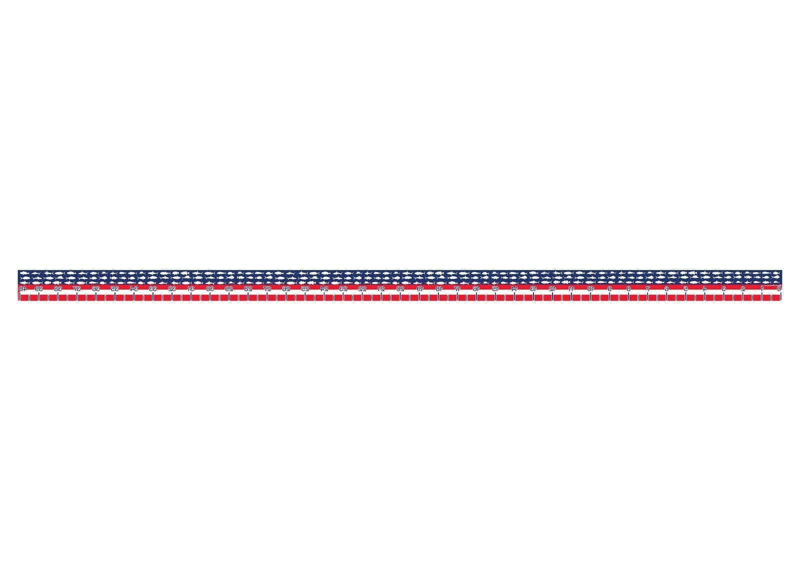 USA Fish Ruler Measuring Measure Decal US