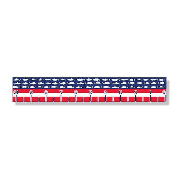 usa fish ruler sticker measuring tape measure