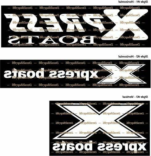 xpress boats fishing outdoor sports vinyl die